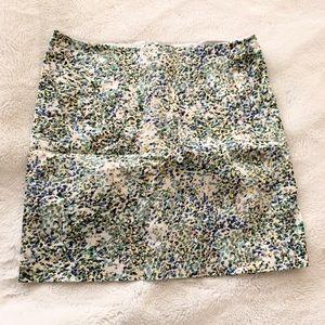 j.crew stretchy mini skirt // size 0